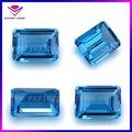 de boa qualidade emerald cut loose pedra de topázio azul preço melhor preço