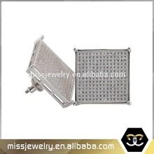 Hip hop mens 25mm screw back handmade big silver earrings