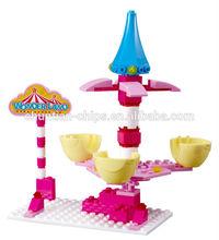 2014 NEW HOT SALE Wonderland large plastic building blocks,puzzle game,Princess castle, kids education MUSICAL toys,DIY toy