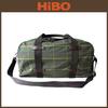 2014 Best selling cotton tartan andl eather travel bag