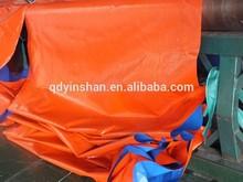 blue/orange covering PE tarpaulin, truck cover plastic canvas tarpaulin, waterproof protective poly tarp lona