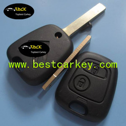 High quality 2 button car key replacement for remote key citroen c3 citroen key replacement blade without groove