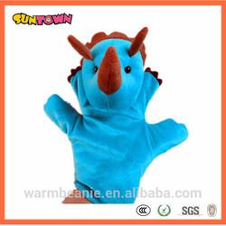 plush hand puppet,dinosaur hand puppet,hands puppets factory