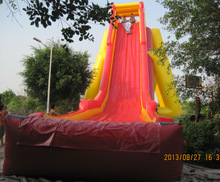 2014 new design hippo inflatable water slide WS069