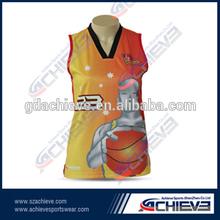 Wholesale basketball uniform women basketball tops