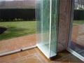 de alta calidad bien sin marco de aluminio plegable de vidrio de la puerta