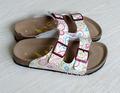 Arizona birkenstock birkibuc dois correia da sandália regular largura suave- footed chinelos
