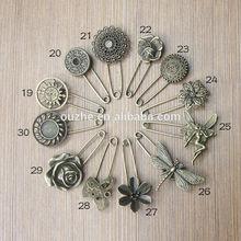 vintage metal safety hijab pins