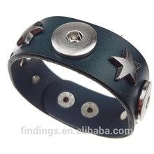 CJ2046 leather wrap bracelet wholesale,Bali Clicks Original PU Bracelet jewelry,snap button charm bracelet jewellery