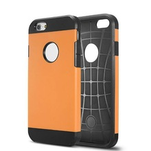 Large Stock TPU+PC Case For iPhone 6 With Logo Hole, Fast Shipping For iPhone 6 Case With Logo Hole