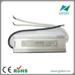 120W 12V 10A waterproof LED power supply IP67