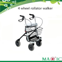 2014 new folding rollator walker mobility walking aids with basket for elder people disabled handicapped rehab use