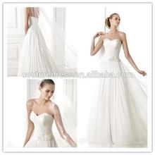 Latest designs strapless low back ruffle bottom formal white gown vestidos de fiesta elegant wedding dress turkey party AMI-146