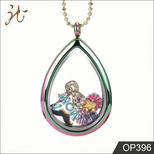 Water Drop Color Photo Frame Pendant