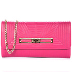 Wholesale fashion designer classy genuine leather women clutch evening bags