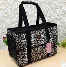 Pet carrier printed Leopard grain dog cat outdoor bag portable and convenient dog travel carrier shoulder bag