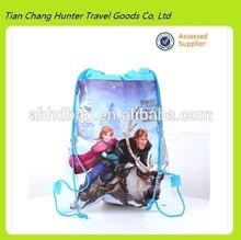 frozen non-woven fabric printing drawstring bag and other cartoon bag