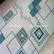 Papel de parede estilo moderno azul de papel doilies do laço