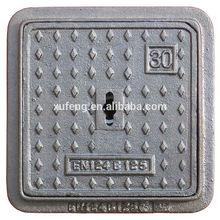 B125 C250 D400 E600 F900 Heavy Duty Ductile Iron Manhole Cover with EN124 BVQI AS3996