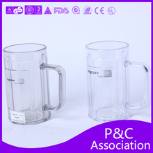 500ML transparent plastic beer cup,eco-friendly beer/drink cups wholesale