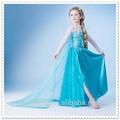 atacado 2014 congelados elsa longa princesa vestido maxi para bebês e crianças meninas do partido vestido d01