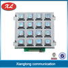 high quality zinc alloy illuminated keypad with chromed keys and frame and vandal resistant