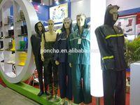 Heavy Duty Long Vinyl PVC Raincoats With Reflective Strips