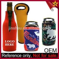 Promotional water bottle cooler neoprene beer bottle sleeve with zipper