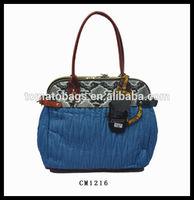 Quilting+ crocodile pattern pu special woman handbag exporter
