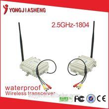 2.4GHz 4W waterproof long range wireless video transmitter receiver