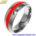 resina vermelha tungstênio anéis 10 ano de aniversário de casamento anel