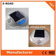 2014 reflective waterproof 6 LED Plastic round solar road stud road marker