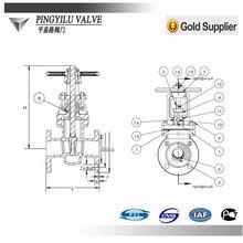 water pipe brass yoke rising stem gate valve picture