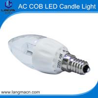 Factory supplying 4w cob led e14/e12 mini electric candle light