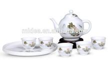 Chinese top grade grace porcelain chinaware tea set