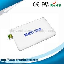Alibaba website custom plastic card usb 2.0 memory stick, promotional super thin credit card usb flash drive