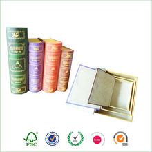 folding gift book shaped box with ribbon