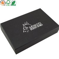 Cardboard silver stamping men's t-shirt packaging boxes with lids