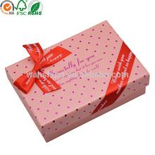 Cardboard handmade cheap birthday gift box with lids