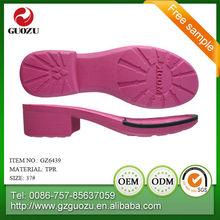 anti slip tpr shoe sole material