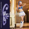 ml8048 navidad sexy mujeres lindas conjunto sujetador azul traje de santa
