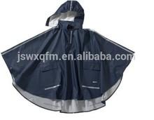 nylon pu waterproof poncho polyester rain cape