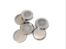 Meshed CR2032 Coin Cells Cases (20d x 3.2mm) with seal O-rings for Lithium Air Battery Research - 100pcs/pck