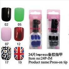 Fashion Pre-glued Nail art full cover tips acrylic Im-press nail tips