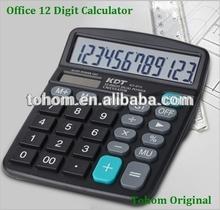Promotional 12 digit solar & battery big size desktop calculator