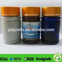 brown color plastic tablets bottle,dark blue PET medicine bottle,grey plastic capsules bottle container