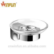 Hotel/Home Chrome Finish glass soap dish,Zinc+Brass Bathroom Hardware Product,Bathroom Accessories