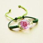 Customed Latest Design Resin Real Flower Series BF14SZH Yellow Chrysanthemum Flower Bracelet