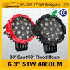 Hot automobile 4080LM super bright led work light 51w
