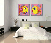 2014 fashion canvas painting beautiful colour rish for wall art decoration picture